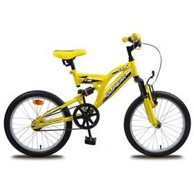 """Olpran 2016 Naty 18"""" žluté Sada cyklodoplňků (zvonek+blikačka+světlo) pro kolo dětské (zdarma)+ Reflexní sada 2 SportTeam (pásek, přívěsek, samolepky) - zelené v hodnotě 58 Kč"""