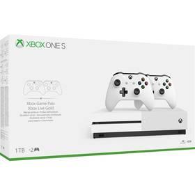 Microsoft Xbox One S 1 TB + 2 ovladače (234-00607)