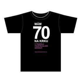 """Stedman Otevřeno seniorům """"70"""" - vel. 1L černé/fialové"""