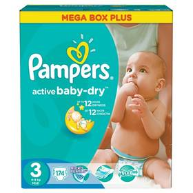 Pampers Active Baby-dry vel. 3 Midi, 174ks