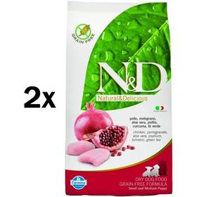 N&D Grain Free DOG Puppy S/M Chicken & Pomegr 2 x 12 kg + Doprava zdarma