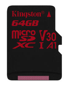 Paměťová karta Kingston Canvas React microSDXC 64GB UHS-I U3 (100R/80W) (SDCR/64GBSP)