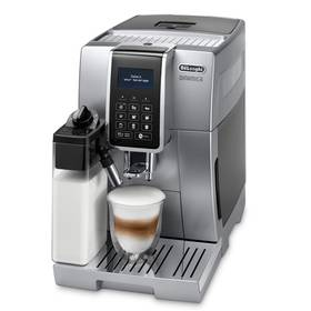 DeLonghi Dinamica ECAM 350.75 S stříbrné + Káva DeLonghi Kimbo Classic 1kg zrnková v hodnotě 449 Kč+ Skleničky na latte macchiato DeLonghi v hodnotě 449 Kč + Doprava zdarma