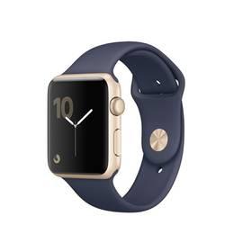 Apple Watch Series 1 42mm pouzdro ze zlatého hliníku - půlnočně modrý sportovní řemínek (MQ122CN/A) + Doprava zdarma