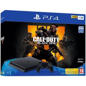 Sony PlayStation 4 Slim 1TB + Call of Duty: Black Ops 4 (PS719758112) černá + Doprava zdarma