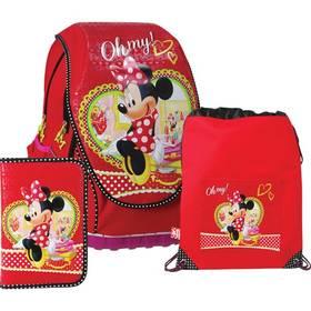 Sun Ce Disney Minnie - batoh, penál, sáček červený