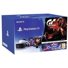 Sony PlayStation VR + Kamera + VR WORLDS (PSN voucher) + Gran Turismo (PS719979661) + Doprava zdarma