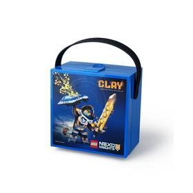 LEGO® Box na svačinu LEGO® Nexo Knights s rukojetí modrý