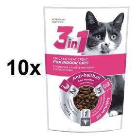 DIBAQ 3in1 Cat Indoor kuřecí 10 x 80g