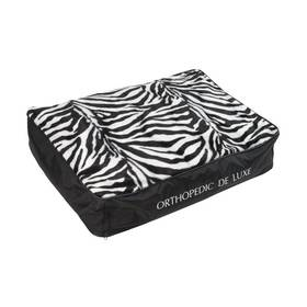 O'Lala Pets ortopedická De Luxe 120 x 85 cm zebra + Doprava zdarma