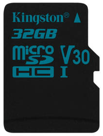 Kingston Canvas Go! MicroSDHC 32GB UHS-I U3 (90R/45W) (SDCG2/32GBSP)