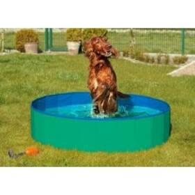 Karlie Skládací bazén pro psy zeleno/modrý 80x20cm