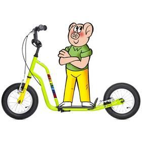 Yedoo Čtyřlístek Maxi Bobík žlutá/zelená + Reflexní sada 2 SportTeam (pásek, přívěsek, samolepky) - zelené v hodnotě 58 Kč