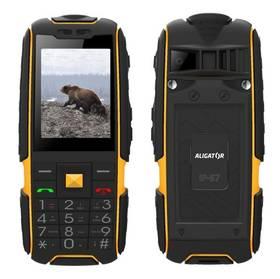 Aligator R20 eXtremo (AR20BY) černý/žlutý SIM s kreditem T-mobile 200Kč Twist Online Internet (zdarma)