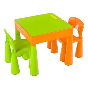 Cosing MAMUT plastový stoleček a 2 židličky zelený/oranžový + Doprava zdarma