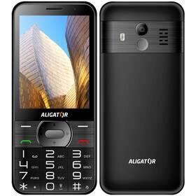 Aligator A900 Senior + nabíjecí stojánek (A900B) černý
