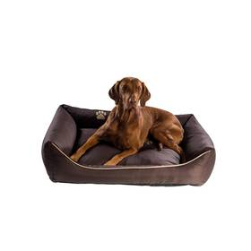 Pelech Argi pro psa obdélníkový - 70x55 cm / snímatelný potah hnedý