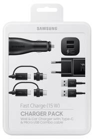 Samsung Power Pack (nabíječka, adaptér do auta, kabel) EP-U3100 (EP-U3100WBEGWW) černá