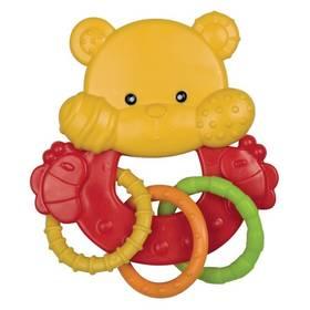 Hrkálka Canpol babies zvířátko s kroužky medvídek červená/žltá/zelená/oranžová