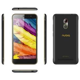Nubia N1 Lite DualSIM (NUBIAN1LITEBK/GD) černý/zlatý SIM s kreditem T-Mobile 200Kč Twist Online Internet (zdarma)Software F-Secure SAFE 6 měsíců pro 3 zařízení (zdarma)Nubia Original Silikonové Pouzdro Grey + Tvrzené sklo pro N1 Lite + Doprava zdarma