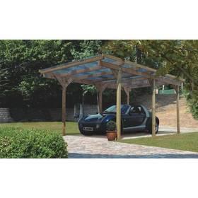 Garáž Karibu Einzelcarport PUR, pro jedno auto