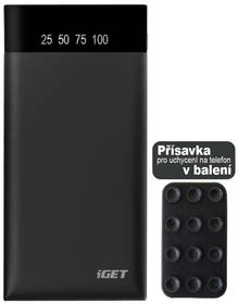 iGET POWER B 15000mAh (B-15000) černá + Doprava zdarma