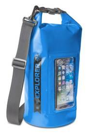 """Celly voděodolný vak Explorer 5L s kapsou na telefon do 6,2"""" - modrý"""