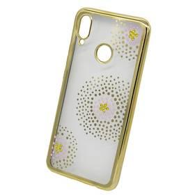 Kryt na mobil Beeyo Flower Dots na Honor Play (BEAHUHOPLFDGO) zlatý