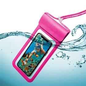 """Celly Splash Bag voděodolné pro 6,5"""" (SPLASHBAG19PK) růžové"""