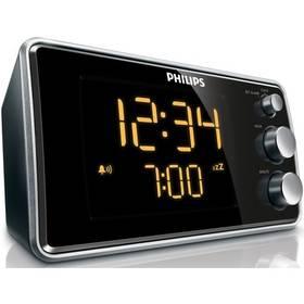 Philips Clock radio AJ 3551 černý/stříbrný + Doprava zdarma