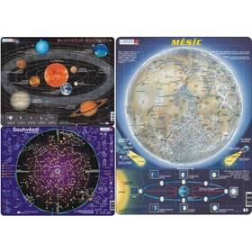 Larsen Sluneční soustava, Souhvězdí, Mapa měsíc 3ks