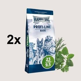 HAPPY DOG Profi-Line BASIC 23/9,5 - 2 x 20 kg + Doprava zdarma