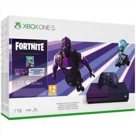 Microsoft Xbox One S 1 TB + Fortnite Battle Royale Special Edition (23C-00089) fialová