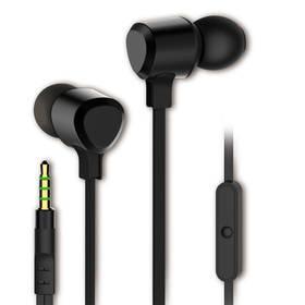 Slúchadlá Vivanco ESSENTIAL s mikrofonem čierna