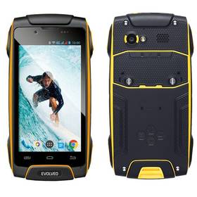 Evolveo StrongPhone Q8 LTE (SGP-Q8-LTE-Y) černý/žlutý SIM s kreditem T-mobile 200Kč Twist Online Internet (zdarma) + Doprava zdarma