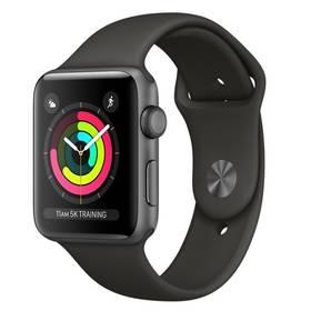 Apple Watch Series 3 GPS 42mm pouzdro z vesmírně šedého hliníku - šedý sportovní řemínek (MR362CN/A) + Doprava zdarma