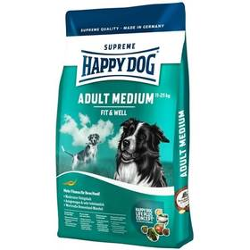 HAPPY DOG MEDIUM Adult 12,5 kg Konzerva HAPPY DOG Rind Pur - 100% hovězí maso 400 g (zdarma) + Antiparazitní obojek za zvýhodněnou cenu + Doprava zdarma