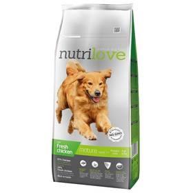 Nutrilove Dog dry Mature 7+ fresh chicken 12kg Konzerva Nutrilove Dog paté Lamb 800g (zdarma)Konzerva Nutrilove Dog paté Chicken 800g (zdarma)