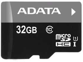 ADATA 32GB Class 10 UHS-U1 (50R/10W) + čtečka MicroReader Ver.3 (AUSDH32GUICL10-RM3BKBL) černá
