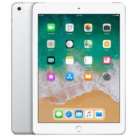 Apple iPad (2018) Wi-Fi + Cellular 32 GB - Silver (MR6P2FD/A) SIM s kreditem T-Mobile 200Kč Twist Online Internet (zdarma)