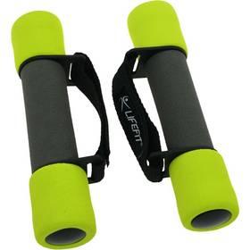 LIFEFIT molitanové s páskem Plus, 2 x 0,5 kg černé/zelené