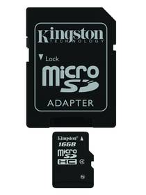 Kingston MicroSDHC 16GB Class 4 + adapter (SDC4/16GB)