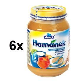 Hamánek ovocná svačinka s broskvemi a smetanou 6x190g