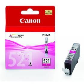 Canon CLI-521M, 510 stran - originální (2935B001) růžová (poškozený obal 2500013847)