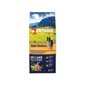 Ontario Adult Medium Lamb & Rice 12kg + Antiparazitní obojek za zvýhodněnou cenu + Doprava zdarma
