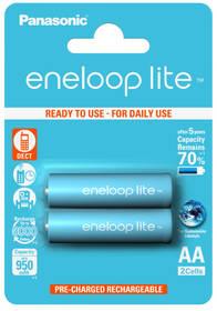 Panasonic Eneloop Lite AA, 950mAh, 2 ks (BK-3LCCE/2BE) tyrkysová