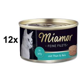 Miamor Filet tuňák + rýže v želé 12 x 100g