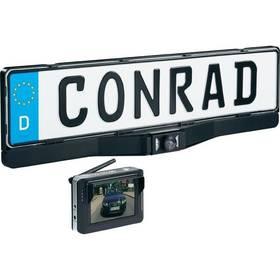 Bezdrátová couvací kamera Conrad v rámečku SPZ + Doprava zdarma