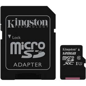 Kingston MicroSDXC 128GB UHS-I U1 (45R/10W) + adapter (SDC10G2/128GB)
