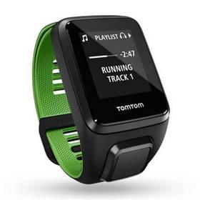 Tomtom Runner 3 Cardio + Music + Bluetooth sluchátka (S) (1RKM.001.11) čierna/zelená